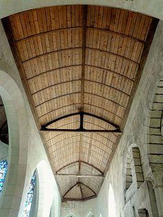 lambris de plafond  Eglise Saint-Sulpice. Pierrefonds (Oise)