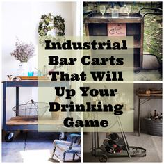 19 Industrial Bar Carts That Will Up Your Drinking Game