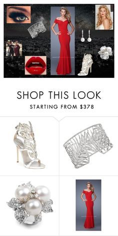 """Prom Dress: Thor"" by chesney-kuper ❤ liked on Polyvore featuring beauty, Giuseppe Zanotti and Theo Fennell"