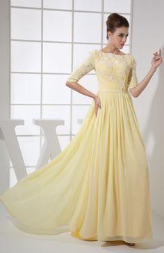 1fc32c4455a Vintage A-line Elbow Length Sleeve Chiffon Brush Train Beaded Graduation  Dress Prom Dresses 2016