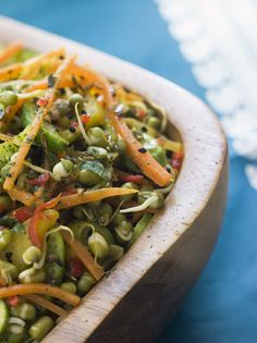 Try the Moong Sprouts Usal - that makes a high protein snack that you have have for breakfast lunch or evening tea. Try this recipe and tell us how you like it. -->http://ift.tt/1OoxpP2 #Vegetarian #Recipes