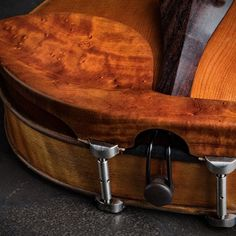 Aeroplane Boxwood Violin Chinrest w/ Nickel Barrels - Potter Violins Barrels, Instrumental, Musical Instruments, Hardwood, Musicals, Traditional, Music Instruments, Violin, Natural Wood