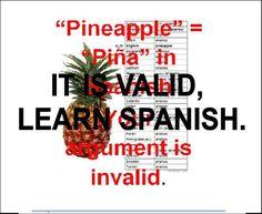 LEARN SPANISH pineapple