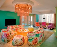 colorful hotel lobby #travel