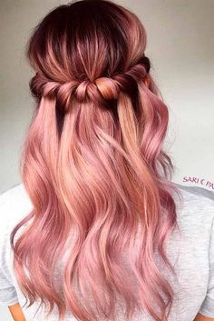18 Totally Awesome for Two Tone Hair Hairstyles two tone hair color ideas for brown hair - Hair Color Ideas Rich Brunette Hair, Brunette Ombre, Blonde Hair, Pink Blonde Ombre, Rose Gold Blonde, Ash Blonde, Cabelo Rose Gold, Rose Gold Ombre, Rose Gold Brown Hair