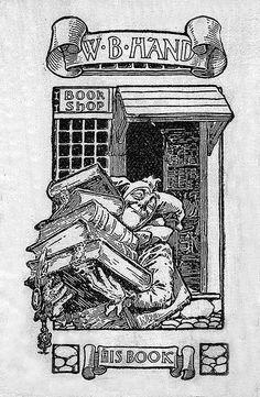 **W. B. Hand bookplate from Pratt Institute Libraries via Bookish Ambition