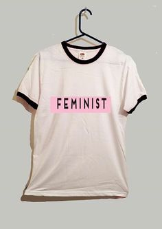 feminist ringer tshirt 2 colours feminism tumblr by GreyWavesPrint