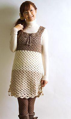 Crochet tunic dress pattern. #crochet #dress #crochet_pattern