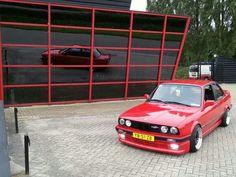 BMW E30 Hartge 3 series red