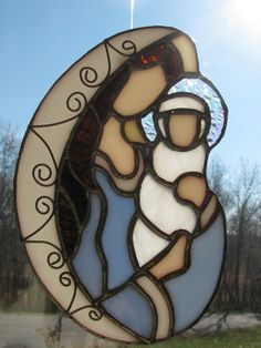 Mary & Baby Jesus Suncatcher
