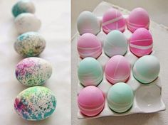 huevos de pascua Easter Eggs, Diy, Crafts, Ideas Originales, Wicca, Amanda, Spring, Decorating Easter Eggs, Creative Crafts