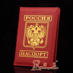 ZS 2015 litchi pu en cuir détenteur d'un passeport Russe hommes et femmes couverture du passeport carte de crédit titulaire passeport sac billet clip
