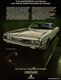 1969 Chrysler Newport - If you paid £3,000 for your last car - Original Ad