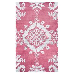 With a floral motif and rich hues, the Safavieh Kay Stone Wash Rug adds an elegant look to your floor space. Hand-knotted from a wool/cotton blend, the medallion design is centered in the middle of the luxurious rug, creating an eye-catching piece. Floral Area Rugs, Vintage Stil, White Area Rug, Floral Motif, Hand Knotted Rugs, Rug Making, Vintage Designs, Rug Size, Bohemian Rug