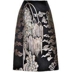 For your consideration, an absolutely stunning YVES SAINT LAURENT Rive Gauche Black Silk/Wool blend skirt from Tom Ford's last YSL collection in 2004. This ski…