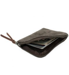 Zip Slim Wallet in Moss Horween® Suede $110 – MAKR / FL