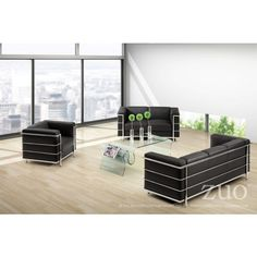 Tempered Glass Discovery Coffee Table by Zuo Modern 404102