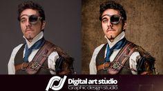 Ретушь в стиле Стимпанк Фотошоп | Retouching steampunk style Photoshop S...