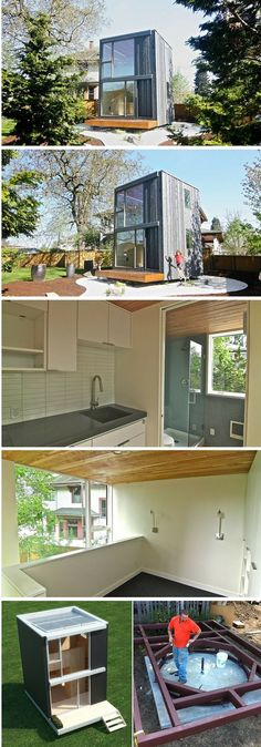 This Portland tiny house can be manually rotated to face the sun. | Tiny Homes | #tinyhouse #Portland #rotating