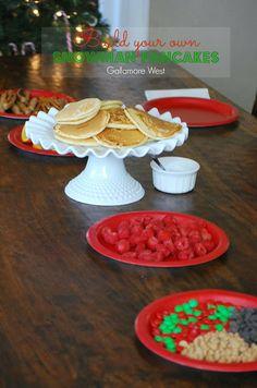 gallamore west: Build your own Snowman Pancakes!