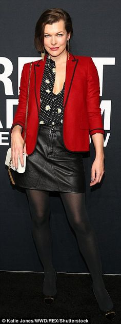 Leading ladies! Milla Jovovich took the plunge in a low-cut flower top while Courtney Love...