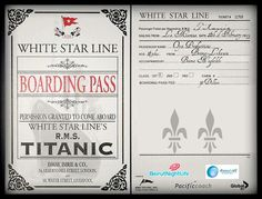 Boarding pass for the R.S Titanic Titanic History, Rms Titanic, Passenger Tickets, Cruise Tickets, Mystery Of History, Weird Stories, Modern History, Vintage Photographs, Fun Facts