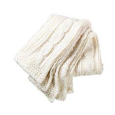VINTER 2014 Throw, knitted, white $29