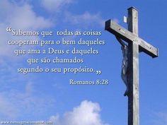 """""""Sabemos que todas as coisas cooperam para o bem daqueles que ama a Deus e daqueles que são chamados segundo o seu propósito."""""""