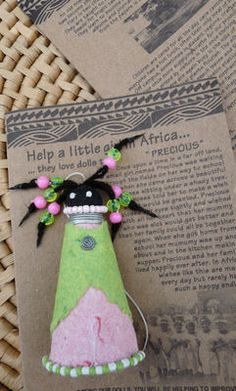 Precious, a handmade Paper Doll  Ornament from Zimbabwe, Fair Trade $6.99