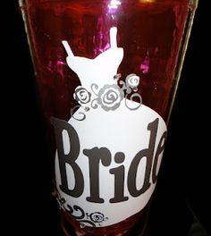 Personalized Tumbler - Bride design from Formal Occasions & Sophisticated Cricut Cartridges