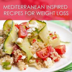 10 Mediterranean Inspired Recipes for Weight Loss. #mediterraneanrecipes #healthyrecipes #recipesforweightloss