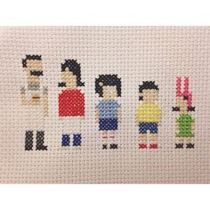 Cross Stitch Ideas Bob's Burgers Belcher Family Cross Stitch by WishUponACraft - Just Cross Stitch, Beaded Cross Stitch, Cross Stitch Embroidery, Embroidery Patterns, Hand Embroidery, Cross Stitch Patterns, Cross Stitch Family, Crochet Bob, Crochet Cross