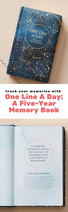 One Line A Day: A Five-Year Memory Book -  Use just one line a day to record everyday ups and downs in this classic diary. Each day is given five lines, so you'll track five years' worth of memories that you can revisit as you grow and change. A thoughtful gift for your loved ones, this book will bring joy for years to come   Bullet Journal Ideas   Bullet Journal Layout   Bullet Journal Inspiration #Affiliate