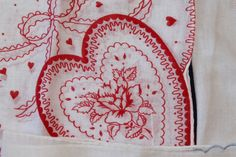Vintage Box Lot of Handkerchiefs, Lot of 7,  All Different, VALENTINE Related by…
