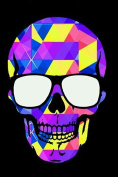 Geometric Shapes Skull