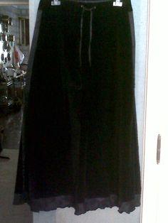 70s long velvet and taffeta evening skirt