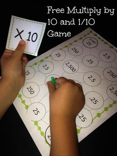 Do your student need some extra practice multiplying by 10 and 0.10? This is a fun game to do just that.   5.NBT.A.1