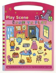 """Mudpuppy Room to Play Play Scene Sticker Set by Mudpuppy. $15.57. 50+ reusable vinyl stickers. CE, ASTM and CPSIA tested for safety. Printed with non-toxic inks. Sticker board with handle, closed, measures 9 x 12"""". Great for travelling - packaged in a clear plastic pouch. From the Manufacturer                When children step into this Room to Play, their imaginations spring to life. Children can decorate the room or use the alphabet stickers to spell things on the walls or..."""