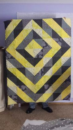 Diamond's Eye, pieced and quilted by Westin Lawson