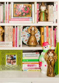 Bookshelves styled f