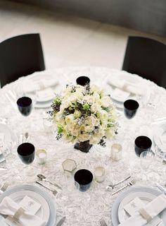 #table-settings, #linens  Flowers: Quatre Coeur - quatrecoeur.com Photography: Jen Huang Photography - jenhuangphotography.com Event Planning: Bellafare - bellafare.com  Read More: http://stylemepretty.com/2012/02/02/lincoln-center-wedding-photo-shoot-by-bellafare-jen-huang/