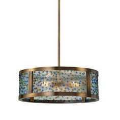 Fuso 3 Light Drum Pendant by Uttermost