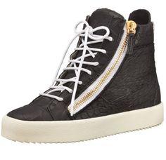 8e0e5373a56 Giuseppe Zanotti Black Croc Embossed Leather Womens Sneakers. Solesational  Footwear   Apparel