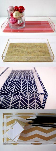 Gift idea: Tilly Maison lucite chevron trays