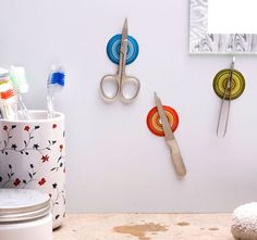 Magnetic Stickers | 33 Insanely Clever Things Your Small Apartment Needs