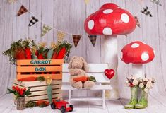 Mushroom Bear Spring Backdrop for Photography SH603 – Dbackdrop Woods Photography, Background For Photography, Photography Backdrops, Photography Studios, Photo Backdrops, Camera Photography, Photo Props, Photo Booth, Easter Backdrops