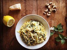 Chili og vanilje: Kremet pasta med cashewnøtter og grønnkål