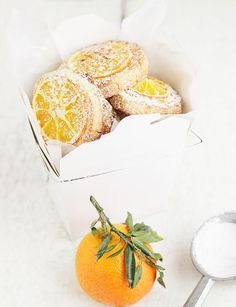 Mandarin Orange Tea Cookies - easy, delicious and so pretty. Would make great holiday gifts!