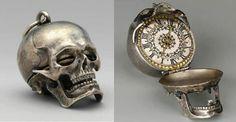 17th century skull pocket watch.