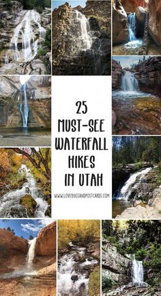 We are sharing 25 must-see Waterfall Hikes in Utah that are family friendly and most are dog-friendly. Take your family on some local adventures this summer Cool Places To Visit, Places To Travel, Places To Go, Travel Destinations, Hiking Places, Food Places, Montezuma, Monteverde, Marrakesh